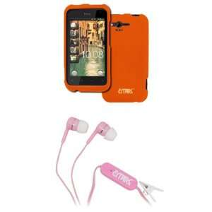 EMPIRE HTC Rhyme Orange Rubberized Hard Case Cover + Pink