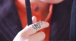 C4450 New Fashion Jewelry big roses ring size 6