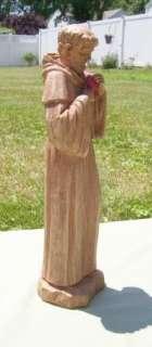 St. Francis Religious Outdoor Garden Statue Wood Look 33171263776