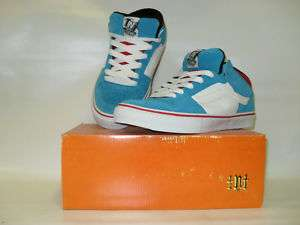 Vans TNT II Mid Blue/White/Red Mens Skate Shoes