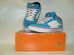 Vans TNT II Mid Blue/White/Red Mens Skate Shoes |