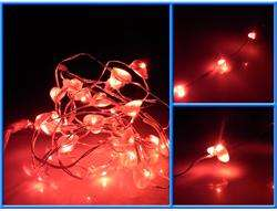 Mini BATTERY OPERATED 30 LED Red FAIRY LIGHTS waterproof String