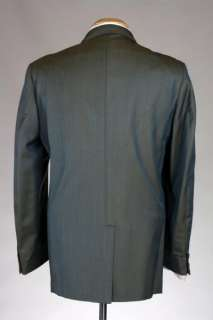 Vintage 60s Blue/Green Rat Pack SHARKSKIN Wool Blazer/Jacket AWESOME