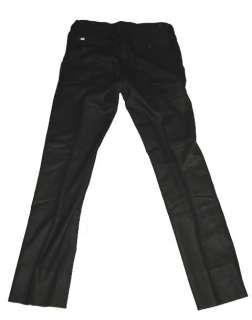 395 NWT RALPH LAUREN BLACK LABEL MENS SOLID BLACK WOOL CASHMERE DRESS