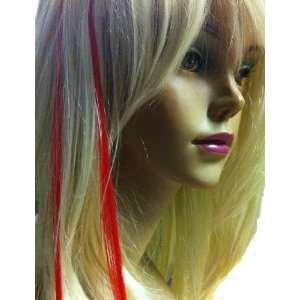 16 Red Reusable soft hair extension Strands Fun Beautiful Reusable