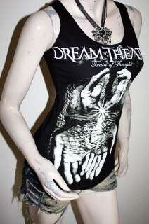 Dream Theater Metal Punk Rock DIY Skeleton Back Tank Top Shirt S/M
