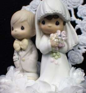 Bi racial Wedding Cake Topper Precious Moments figure african american