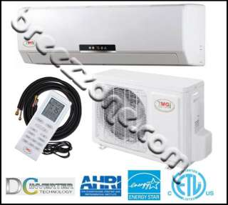 DC INVERTER DUCTLESS MINI SPLIT HEAT PUMP 18 SEER 24000 BTU 2 TON