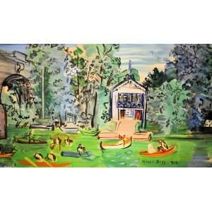 Made Oil Reproduction   Raoul Dufy   32 x 18 inches