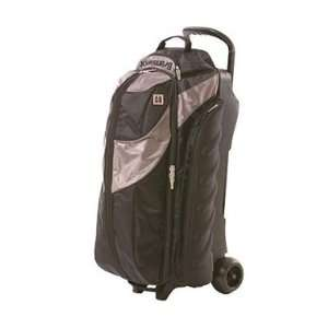 Pro Player 3 Ball Roller Steel / Black Bowling Bag Sports