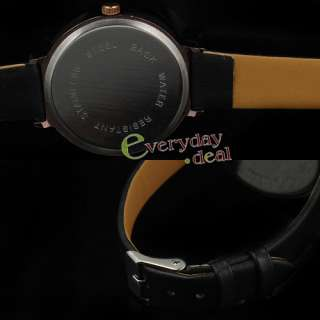 Fashion Cute Lady Girl Quartz Watch Leather Crystal New