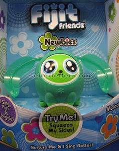 Friends Newbies GREEN MELODEE figure Hot Toy sings, purrs, & giggles