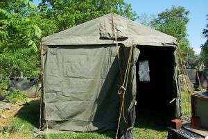 MILITARY TENT MODULAR COMMAND POST.ARMY SURPLUS 11x11