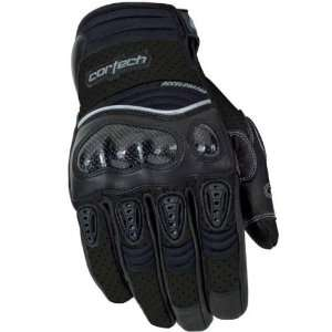 Series 2 Mens Leather Street Motorcycle Gloves   Black / X Small