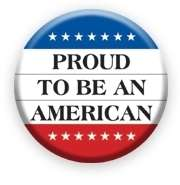 PROUD TO BE AN AMERICAN Button pin badge pinback 2 1/4