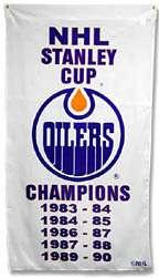 Edmonton Oilers NHL Stanley Cup Banner