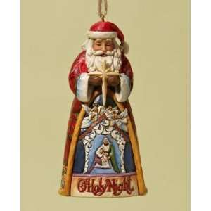 Enesco Jim Shore Heartwood Creek Santa O Holy Night