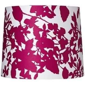 Plum Floral Silhouette Drum Shade 12x13.5x9 (Spider)