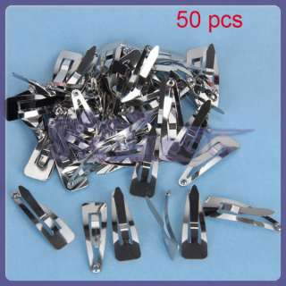 Wholesale 50x 30mm SNAP CLIPS baby girl hair bow clips