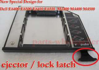2nd HDD Hard Drive Caddy with ejector for Dell E6400 E6500 M2400 M4400