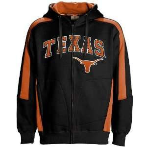 Texas Longhorns Black Spiral Full Zip Hoody Sweatshirt