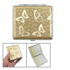 Golden Butterfly Pattern Cigarette Cigar Case Holder