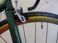 Premium Brew single speed fixe bicycle 58cm Green and Gold bike