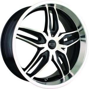 DIP Bionic 20x8.5 Machined Black Wheel / Rim 5x112 & 5x122 with a 40mm