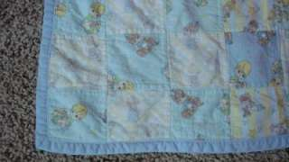 Handmade Precious Moments Blanket Baby Girl Boy Blue