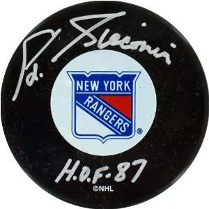 Eddie Giacomin New York Rangers Signed Puck w/ HOF 87 Insc