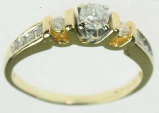 YELLOW GOLD 3 THREE STONE ENGAGEMENT DIAMOND STATE RING J179352