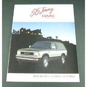 1989 89 GMC S 15 JIMMY Truck BROCHURE Gypsy Sierra