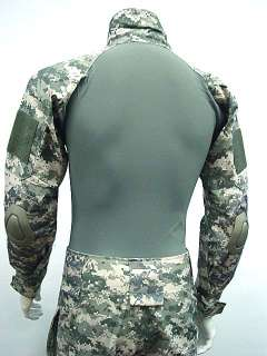 Combat Shirt&Pants Digital ACU Camo w/Elbow Knee Pad XL