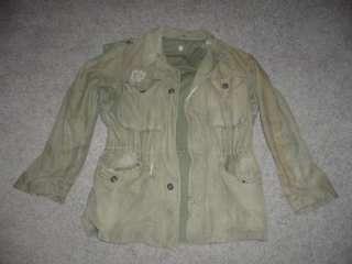 Military M1943 Vintage WWII Field Jacket US Army Men Boys Reenactment