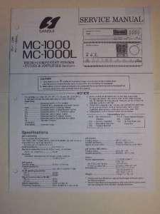 Sansui Service Manual~MC 1000/1000L CD Cassee Deck~Original |