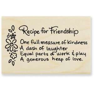 Friendship Recipe   Rubber Stamps Arts, Crafts & Sewing