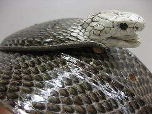 AUTHENTIC REAL COBRA SNAKE SKIN BELT WITH HEAD MATCH BOOTS SHOES BIKER