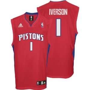 Allen Iverson Jersey: adidas Red Replica #1 Detroit