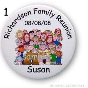 25 Family Reunion Personalized Button BBQ Party favors