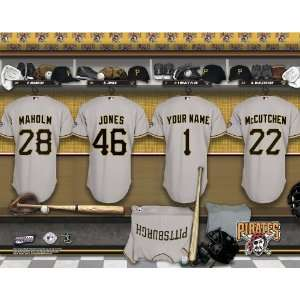 Personalized Pittsburgh Pirates Locker Room Print Sports