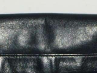 PERLINA NEW YORK Supple Navy Blue Leather Cross Body Messenger Bag