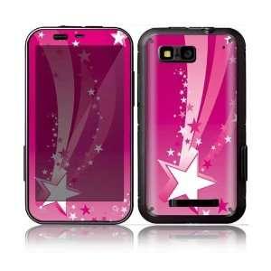 Pink Stars Decorative Skin Decal Sticker for Motorola Defy
