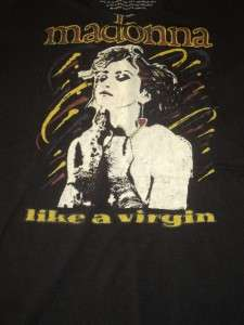 Trunk encore LTD Madonna Virgin Black Authentic Tee Size Small V neck