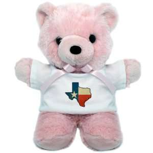 Teddy Bear Pink Texas Flag Texas Shaped Everything Else