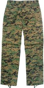 Camouflage BDU Fatigues Army Military BDU Pants