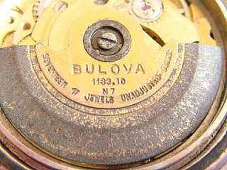 Bulova Swiss 17 jewels watch for repair or parts