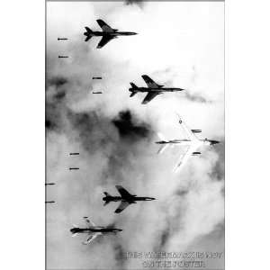 and F 105 Thunderchief Pilots Bomb North Vietnam   24x36 Poster