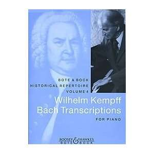Wilhelm Kempff Bach Transcriptions for Piano Composer