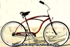 26 Beach Cruiser Bike Bicycle Micargi PANTERA for man single speed