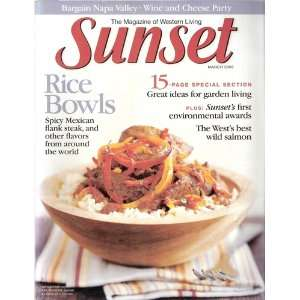 Sunset March 2003 The Magazine of Western Living: Katie Tamony: Books